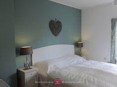 Een van de slaapkamers in vakantiewoning Abtsbouwing www.marienwaerdt.nl