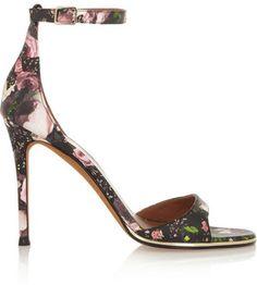 givenchy floralprint leather sandals