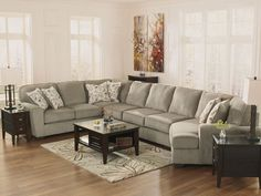 WARREN - 4pcs OVERSIZED MODERN GRAY FABRIC SOFA COUCH SECTIONAL SET LIVING ROOM