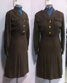 1940s US Army Nurse Corps Uniform by Lorch Manufacturing Co. Dallas. WWII.