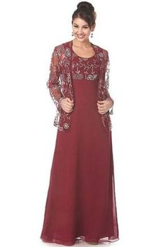 Column Mother of the Bride Dress with Illusion Cropped Jacket and Delicate Applique