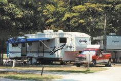 """Point Mallard, a """"Good Sam Park"""", features 239 camp sites on 25 wooded acres. Campground offers free wi-fi, laundry facility, dump station, grocery store, 3 covered pavilions w/ restrooms & showers, enclosed meeting facility, kids playground & grills. Campground is walking distance to the Golf Course, soccer fields, tennis courts, Water Park, Ice Complex. 217 shaded sites w/water, sewer, electricity. 16 sites w/ water, electricity. 6 primitive sites, picnic table, grill. 25 30'x60'…"""