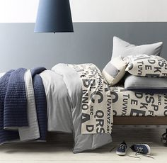 Heathered Jersey Bedding Collection | RH Baby & Child