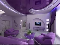 What an AMAZING #purple house!! Take me there now!