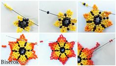 Mexican Sunrise 1 - My Recommendations Bead Jewellery, Seed Bead Jewelry, Seed Beads, Fuse Beads, Opal Jewelry, Perler Beads, Gold Jewelry, Jewelry Rings, Seed Bead Flowers