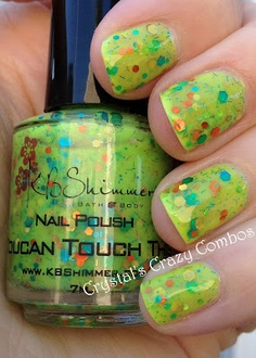 Crystal's Crazy Combos: KBShimmer Toucan Touch This