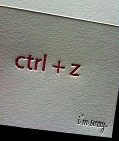 Cartão de desculpas