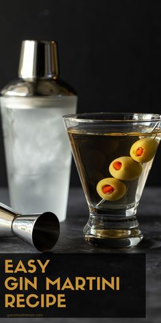 Martinis are always a solid choice for happy hour! Shake up a classic with this Easy Gin Martini recipe!