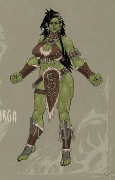 Orc girls are for hugs, kisses and pelvis crushing sex. - added by fouryou at pretty orc girl. Orc Warrior, Fantasy Warrior, Fantasy Rpg, Dark Fantasy, Female Character Design, Character Design Inspiration, Character Art, Dnd Characters, Fantasy Characters