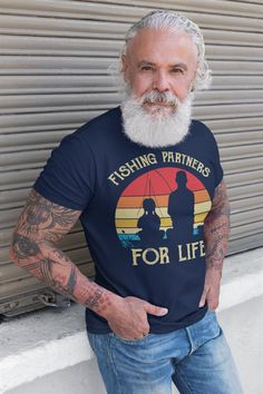 Men's Fishing T Shirts Matching Father Daughter Fishing Partners For Life Shirts Father's Day Gift Idea Vintage Best Friends Shirt Man Fishing T Shirts, Matching Shirts, Father Daughter, Fathers Day Gifts, Best Friends, Mens Tops, Life, Etsy, Vintage