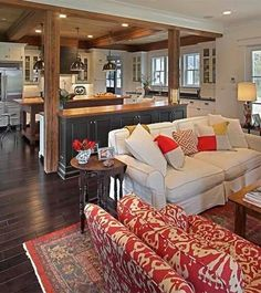 Lies And Open Concept Kitchen Living Room Small House Interior Design 21 Copy Open Kitchen And Living Room, Small Living Rooms, Living Room Designs, Kitchen Small, Modern Living, Craftsman Living Rooms, Kitchen Modern, Luxury Living, Kitchen Design Open