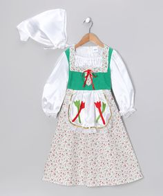 Another great find on #zulily! Green Dutch Girl Dress-Up Set - Toddler & Girls by Dress Up America #zulilyfinds