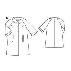 Пальто - выкройка № 101 A из журнала 3/2010 Burda – выкройки пальто на Burdastyle.ru