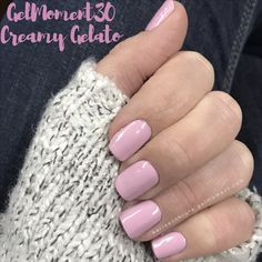 Creamy Gelato is is the newest addition to the GelMoment lineup! This perfect light pink is part of the GelMoment 30 line and it cures in 30 seconds!!! It is perfect for everyday which is great because it lasts for up to 14 days! #millennialpink #gelnails #diy #athome #sahm #workfromhome