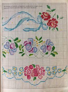 Cross Stitch Cards, Cross Stitch Borders, Cross Stitch Embroidery, Cross Stitch Patterns, Hand Embroidery Videos, Needlepoint, Crochet, Crochet Lace Edging, Embroidery Patterns