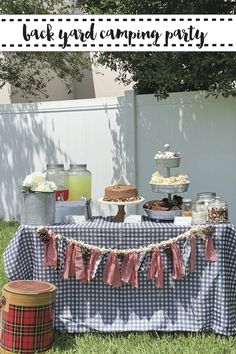 Host a backyard camping party on a budget with these tips and inspiration from Everyday Party Magazine #CampingBirthdayParty #CampingThemedParty
