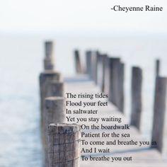 tide boardwalk waves ocean journey poem poetry