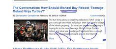 No, not Michael Bay!