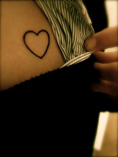 cute little heart tattoo