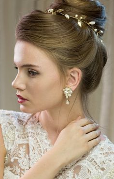 bridal Hair accessories wedding bridal tiara by Ayajewellery