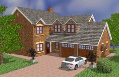 Brick Cottage, Cottage Plan, Custom Home Designs, Custom Homes, House Plans Uk, Location Plan, Boundary Walls, Porch Area, Construction Drawings