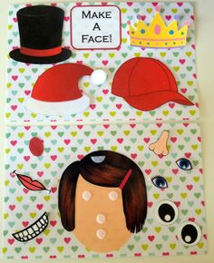 No-Sew Toddler Quiet Book Page Idea - Make A Face! Great activity for introducing emotions. #preschool #efl (pinned by Super Simple Songs)