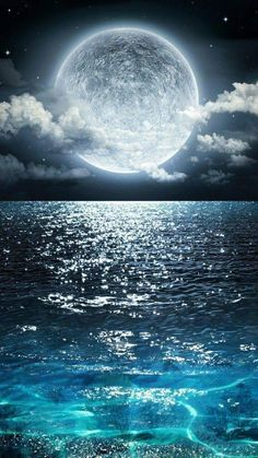 Beautiful Ocean View With the Moon Resting Above it- Wall Mural, Removable Sticker, Home Decor - inches Nature Wallpaper, Wallpaper Backgrounds, Iphone Wallpapers, Ocean Wallpaper, Wallpaper Desktop, Hd Desktop, Photo Wallpaper, Camera Wallpaper, View Wallpaper