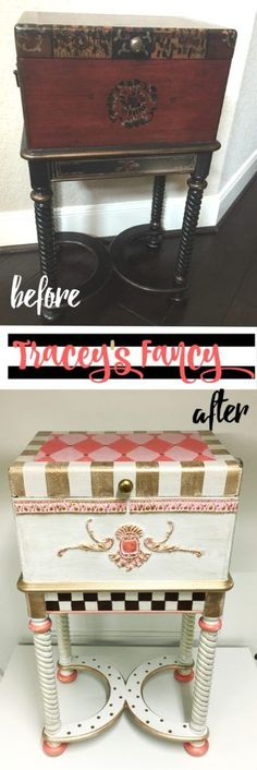 Girls Keepsake Box from an Upcycled Cigar Box by Tracey's Fancy | Repurposed Furniture | Girls Gift Ideas | Painted Furniture | Furniture Before and Afters | How to Paint Furniture