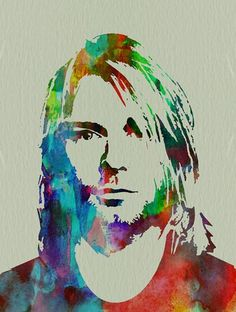 Kurt Cobain Nirvana Canvas Print / Canvas Art by Naxart Studio