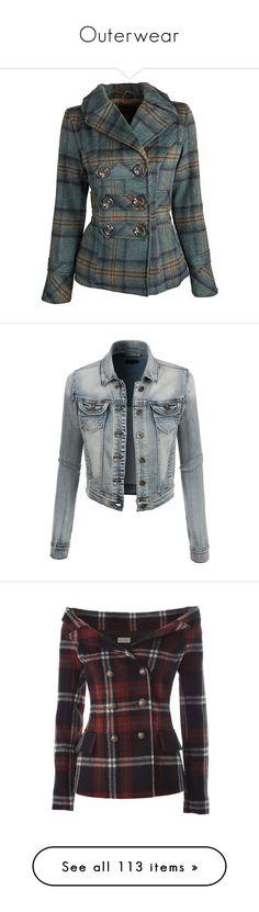 """Outerwear"" by elli-jane-xox ❤ liked on Polyvore featuring outerwear, coats, jackets, coats & jackets, dresses, plaid pea coat, dressy coats, fancy coats, wool-blend coat and plaid peacoat"