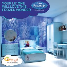 Transform your kid's room into a palace for your princess with our Disney Frozen Themed Room. Visit https://www.mylorange.com/collections/kids-room/products/disney-frozen-themed-room to have a look at the details. #DisneyFrozen #KidsRoomDecor
