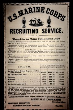 US Marine Corps Recruiting Poster at the National Museum of the Marine Corps Quantico VA Marine Corps Recruiting, Us Marine Corps, Marine Corps Memes, Usmc Quotes, Military Quotes, Military Terms, Military Spouse, Quotes Quotes, Marine Love