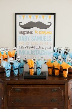 mustache baby shower or moustache birthday