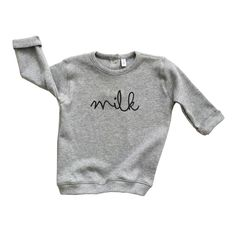 Sweatshirt made of organic cotton. Organic ZOO clothes are Unisex and are made to be mixed and matched. Designed in UK, made in EU. Toddler Boy Fashion, Little Boy Fashion, Grey Sweatshirt, Grey Sweater, Baby Boy Outfits, Kids Outfits, Designer Kids Clothes, Coton Biologique, Baby Wearing