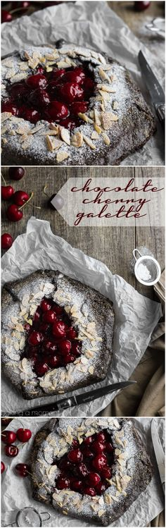 Chocolate Cherry Galette- such a simple dessert for summer and I loved the flavor combo!