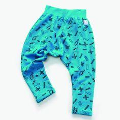 Indikidual Washi Tape Kids Harem Pants Organic Cotton | LittlePeco.com