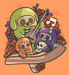 Dia de los Muertos by ~recycledwax on deviantART