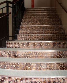 diy stairs pininstrest | DIY: Tile Stairs - Would like to do this in my next house, but with a ...