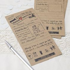 Need something fun for your guests on your wedding day? Look no further our Wedding Advice cards are perfect for this.  Each pack has questions and even space for your guests to draw a picture of themselves!  Add one for every guest on there place setting and you can keep for years to