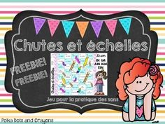 "Here ia a phonics version of Chutes and Ladders! Students get to practise their phonetic blends while playing a game!This file includes one game for the sound ""in"" (im, ain, aim, ein)Other phonetic blends available: French Chutes and ladders game Phonics Edition (Chutes et chelles)Please visit my store Polka Dots and Crayons for more French products and don't forget to follow me by clicking on the star below my store name!"