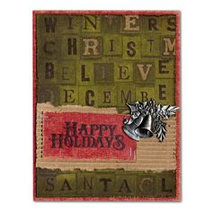 Holiday Card 26 Tim Holtz Happy Holidays