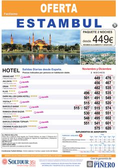 Estambúl (Avión + Hotel) salidas diarias desde España - Diciembre ultimo minuto - http://zocotours.com/estambul-avion-hotel-salidas-diarias-desde-espana-diciembre-ultimo-minuto/