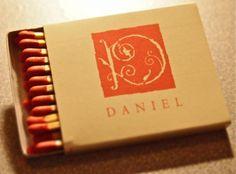 Restaurant Daniel NYC. Circa 1998. #danielboulud Japanese produced BX5A 22 stick box.Pic. by Joe Danon. www.GetMatches.com