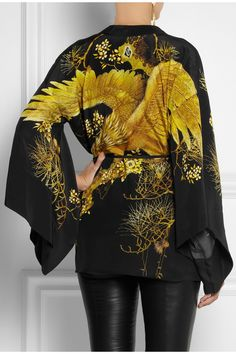 Roberto Cavalli Chimera silk kimono jacket NET-A-PORTER.COM