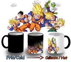 TAZA-MAGICA-DRAGON-BALL-personajes-luchando-goku-tazza-mug-tasse-magic-magica