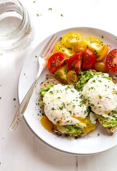 Poached Eggs Over Avocado Toast