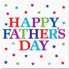 Colorful Happy Fathers Day Wishes Card