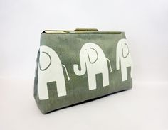 Metal Snap Pouch Cosmetic Bag Toiletry Bag  by handjstarcreations, $18.50