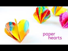 Valentine's Day Craft: 3D Paper Hearts - Babble Dabble Do