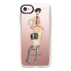 Coco Chanel - iPhone 7 Case And Cover ($40) ❤ liked on Polyvore featuring accessories, tech accessories, iphone case, apple iphone case, iphone cover case, clear iphone case and iphone cases